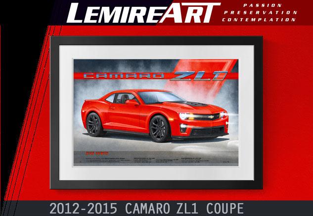 Camaro ZL1 art print 5th generation