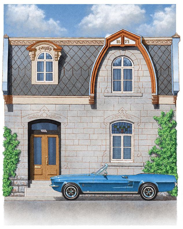 1615 St-André, Mustang 1967 convertible, Montréal, Montreal