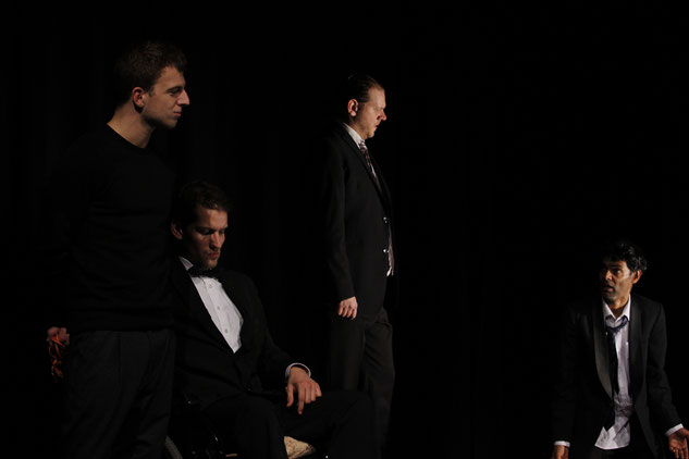 from l. to r.: Iago, Cassio, Ludovico, Othello / Photo © Tarkan Sener