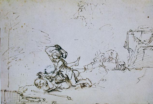 Rembrandt, Kain und Abel, Kopenhagen Kobberstilsamling