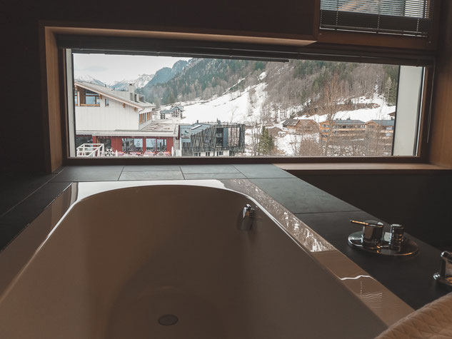 Bathroom at Hotel Walliserhof, Brand, Austria