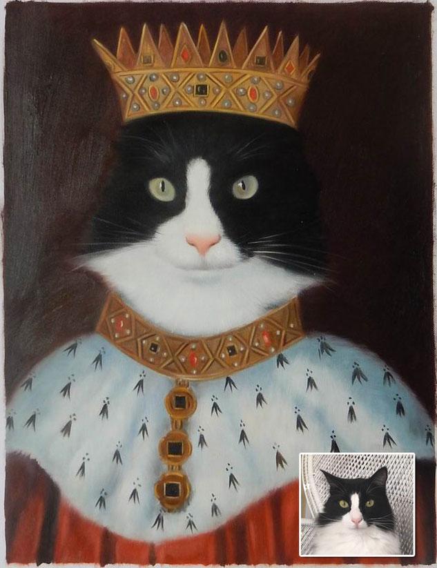 portrait-peinture-homme-chat-tableau