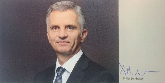 Autograph Didier Burkhalter Autogramm