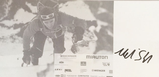 Ueli Steck (1976-2017), Swiss Rock Climber and Mountaineer, famous for his speed climbing record on Eiger North Face, 2012 Mount Everest without Oxygen, 2013 Annapurna's South Face, 2015 all 82 Swiss 4000m peaks in 2 Month, Autograph bought