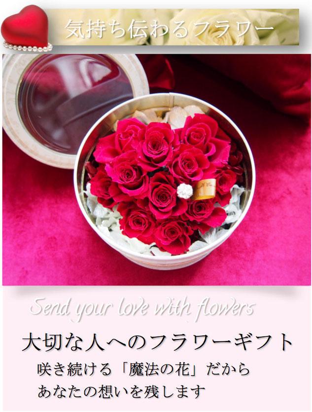 ホワイトデーやバレンタインデーのお返しに贈るプリザーブドフラワー