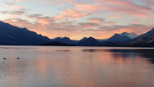 la vue de notre premier free camp en Nouvelle-Zélande