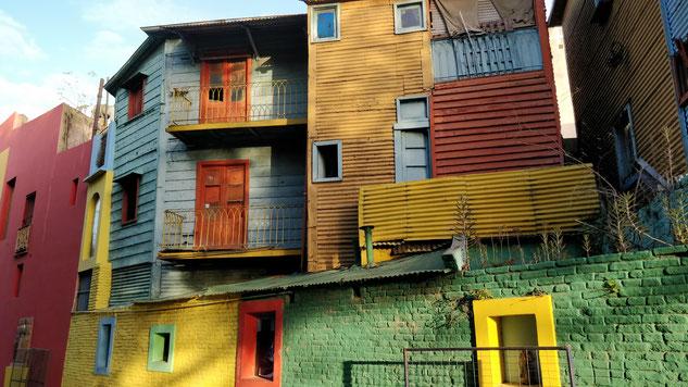 les maisons bariolées de Caminito