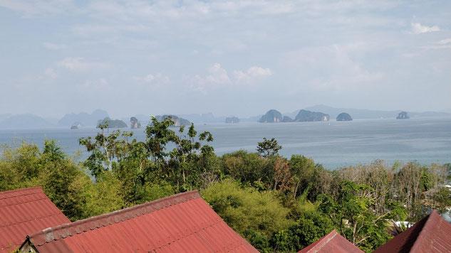 La vue de notre bungalow