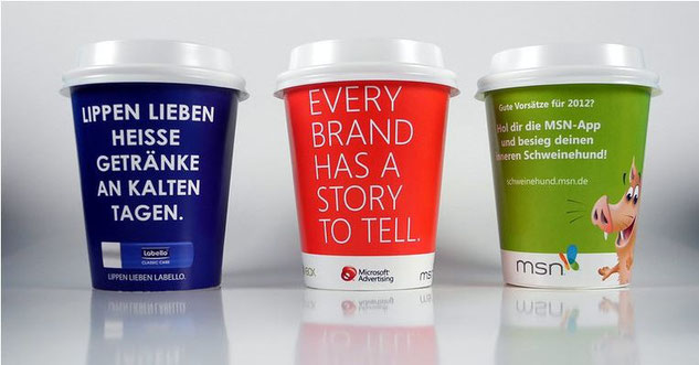Coffee to Go Becher Fotodruck