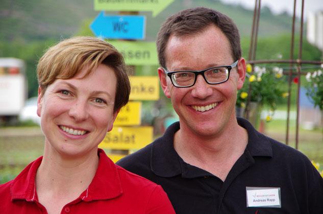 Herzlichen Dank für Ihren Besuch - wir freuen uns, Sie bald wiederzusehen. Petra und Andreas Rapp.