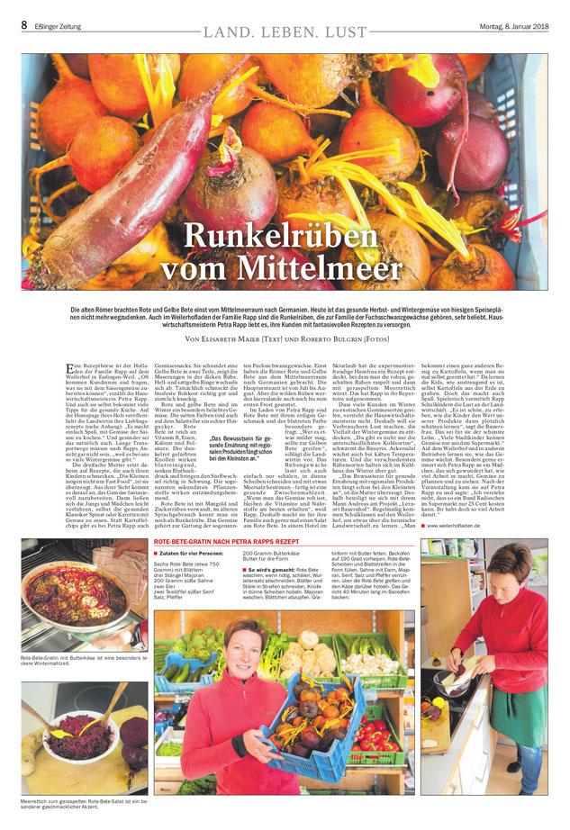 land leben lust runkelrben vom mittelmeer weilerhof in der esslinger zeitung - Wie Man Einen Kaffeetisch Fr Den Herbst Schmckt