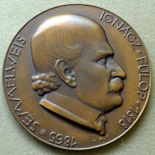 """Ignacz Semmelweis Medal"" by El Bingle is licensed under CC BY-NC 2.0"