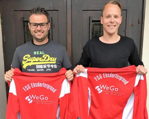 Tobias Münn und Marcel Zimmer (v. l.) führen als neues Trainerteam gemeinsam mit Stefan Glitsch die FSG in die neue Spielsaison