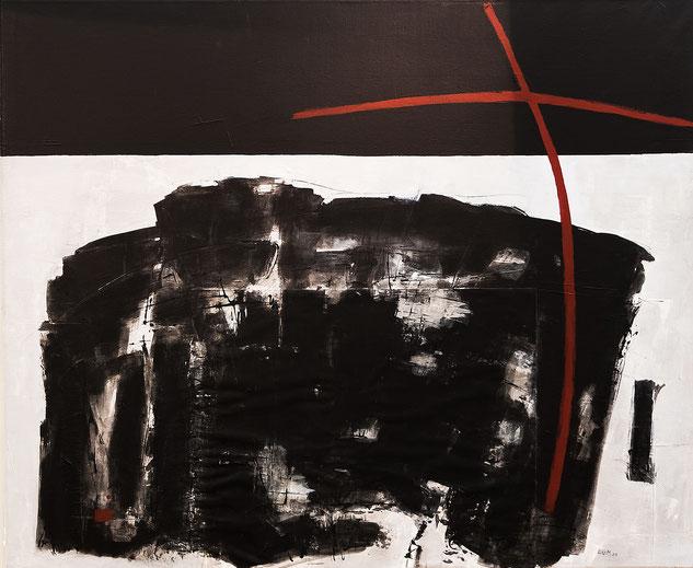 Rot Schwarz II, Acryl auf Leinwand
