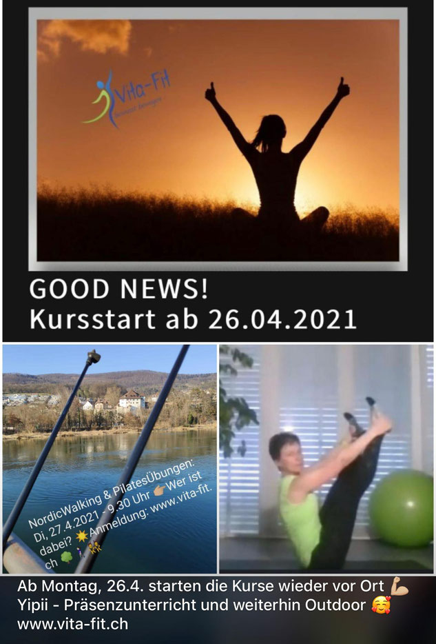 Pilates - Präsenzunterricht, Online live Streaming, Outdoor