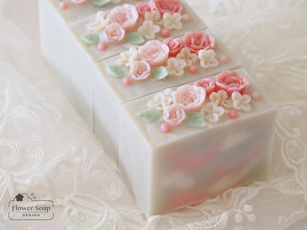 華やかな石けん お花の石けん フラワーソープ フラワーソープデザイン