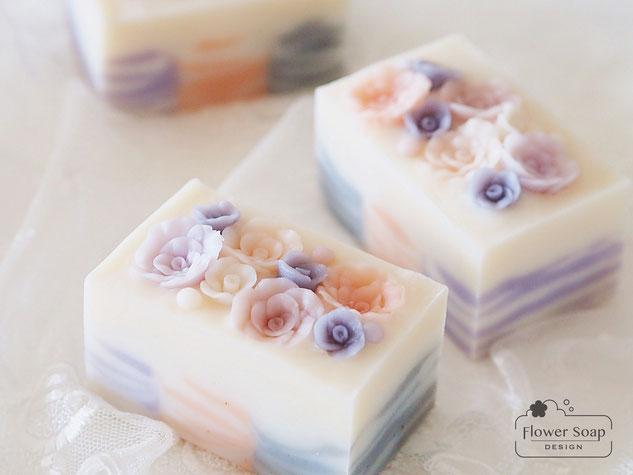 バラの石けん 神奈川の石けん教室 ローズソープ 手作り石鹸教室