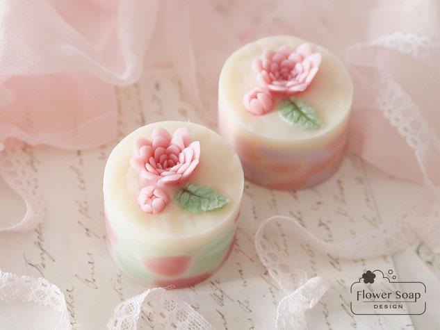 可愛い手作り石けん フラワーソープ お花の石鹸