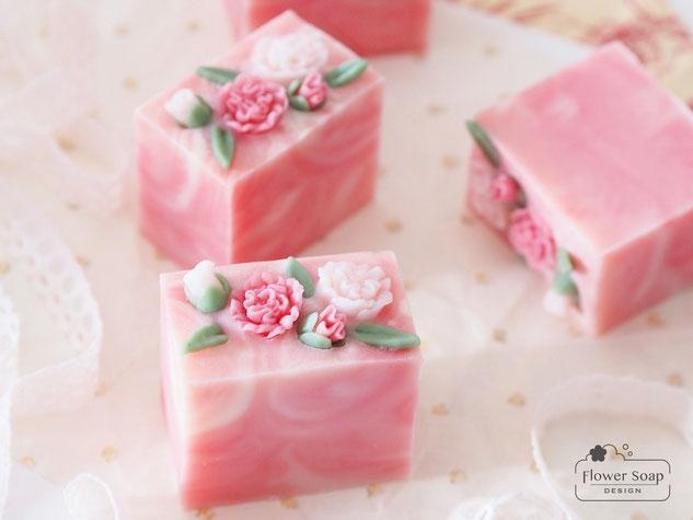 手作り石けん 資格が取れる習い事 石けん作り ピンクの石けん