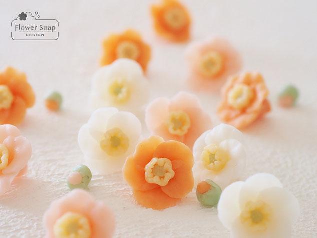 お花の石けん フラワー石けん 横浜の石けん教室
