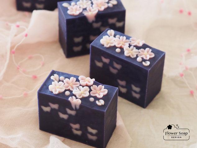 桜の石けん 漢方ソープ 桜ソープ 手作り石けん教室