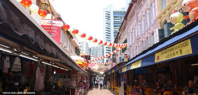 Quartier chinois au coeur de Singapour