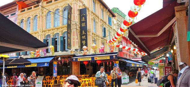 Humour et tradition, quartier chinois, Singapour