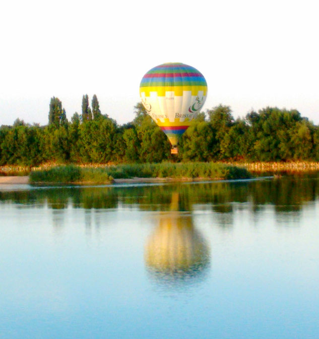 Float above the picturesque countryside in a hot air balloon