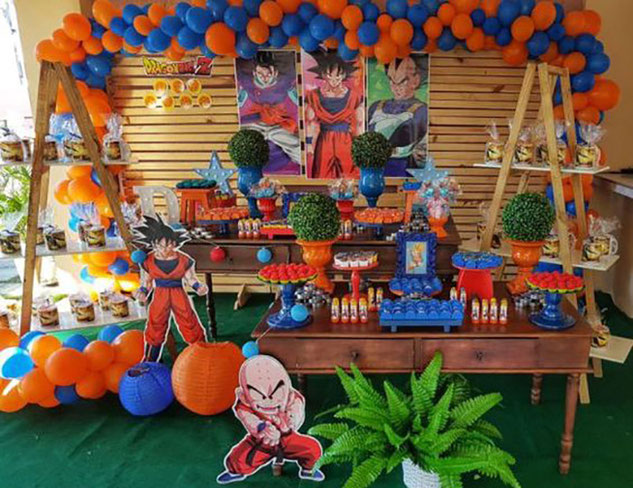 decoracion cumpleaños dragon ball