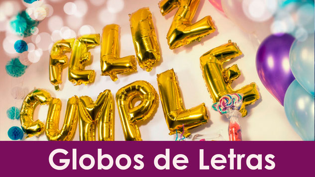 globos de letras para decoracion