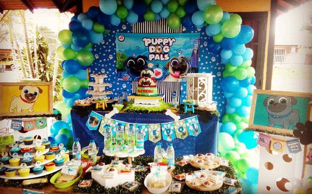 puppy dog pals cumpleaños niño