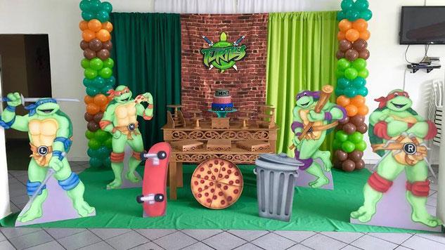 decoracion fiesta tortugas ninja