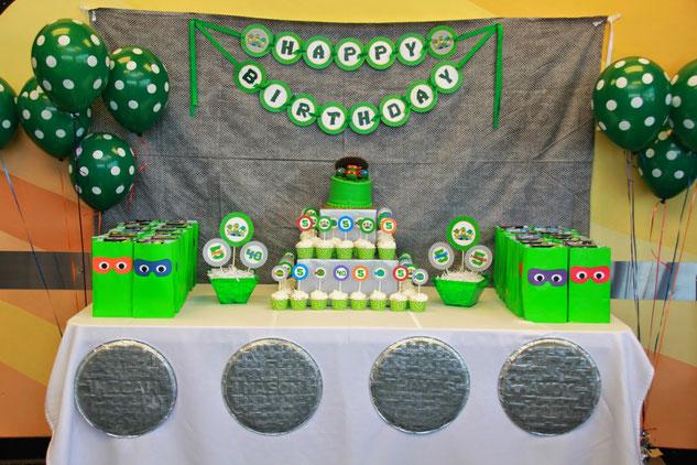 mesa de dulces tortugas ninja