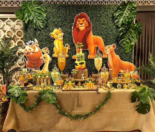 decoracion fiesta rey leon