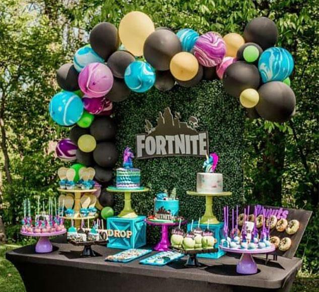 cumpleaños fiesta fortnite