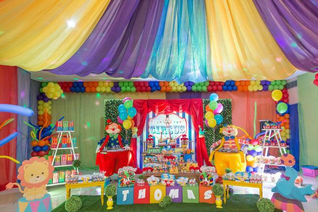 decoracion cumpleaños de circo