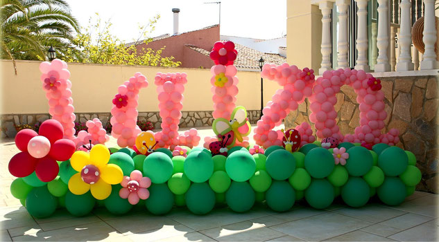 Nombre con letras de globos