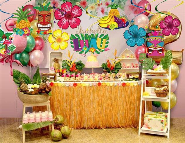 cumpleaños fiesta hawaiana