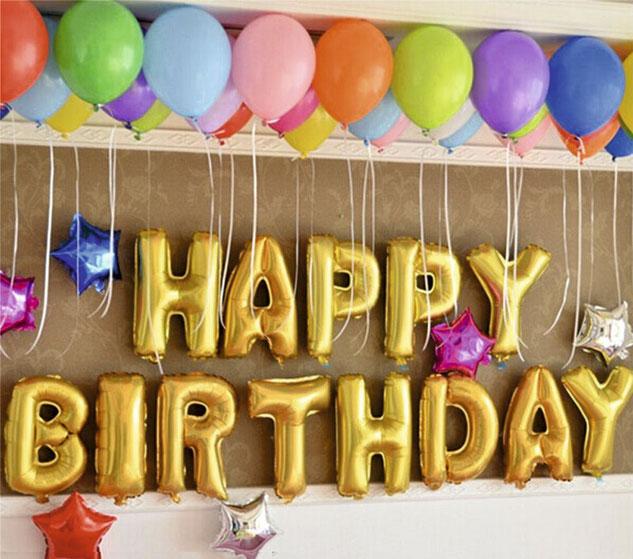 letras de globos para cumpleaños