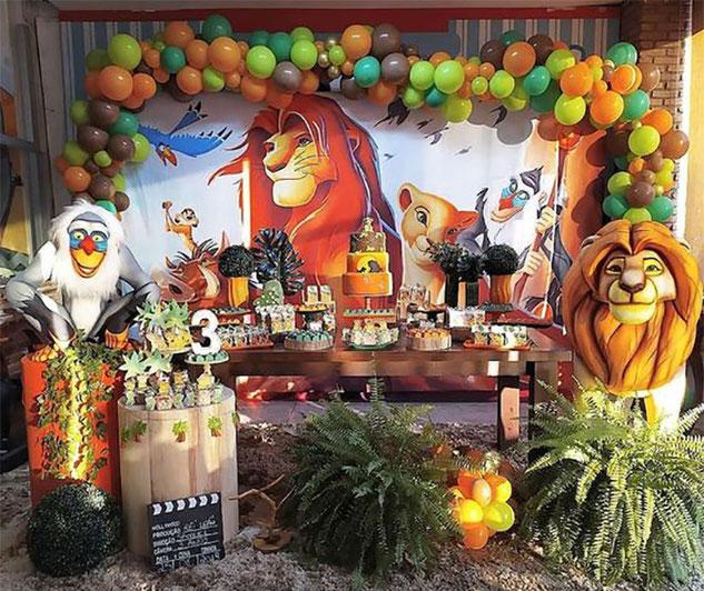 decoracion cumpleaños del rey leon