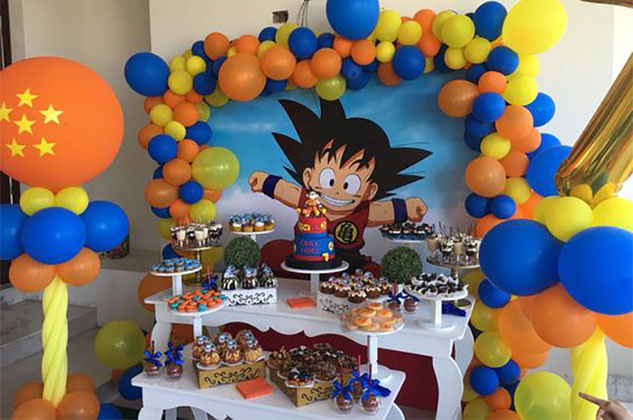 decoracion fiesta dragon ball