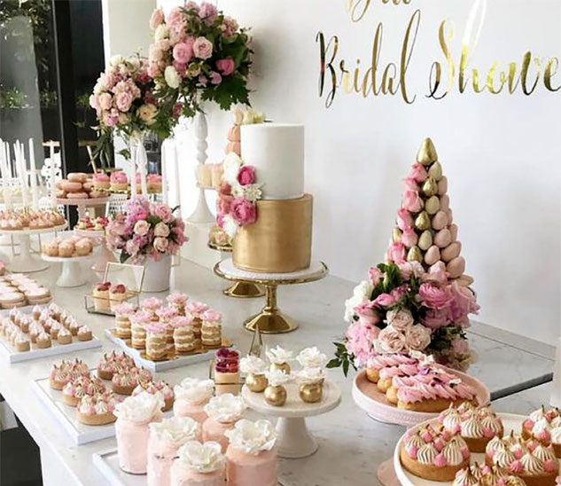 decoracion mesa de postres para boda