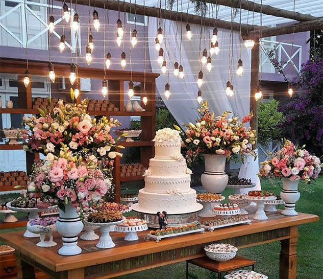 mesa de postres para matrimonio