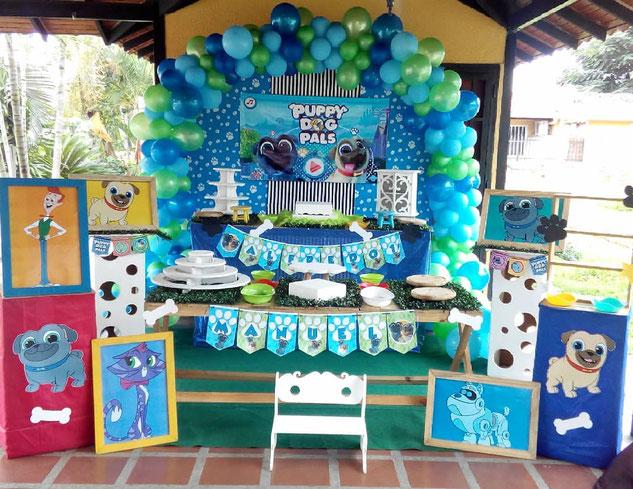 decoracion cumpleaños puppy dog pals