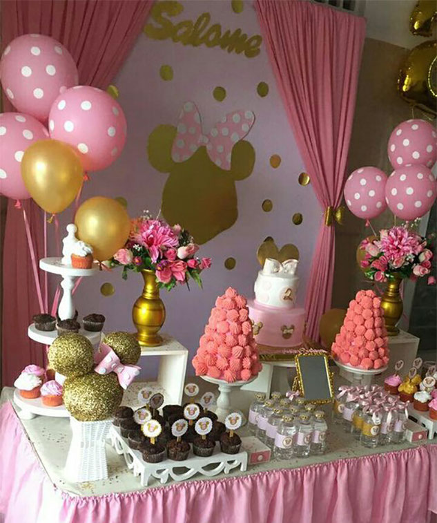 minnie mouse para baby shower