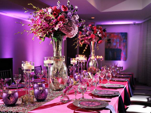 centro de mesa fiesta de mujer