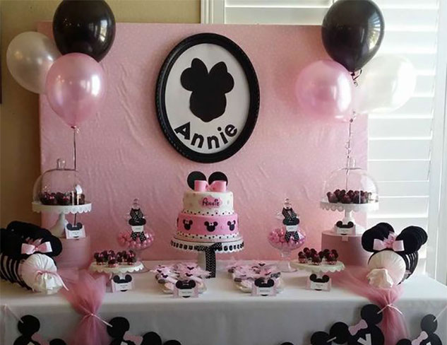 pastel minnie mouse para baby shower