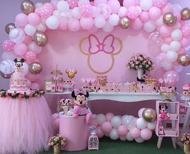 decoracion baby shower de minnie mouse