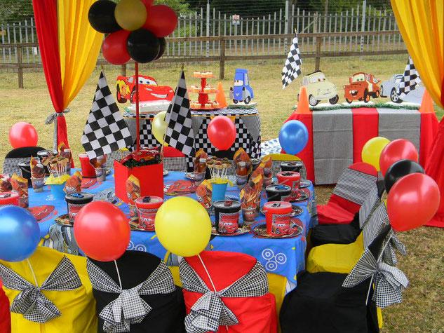 decoracion cumpleaños de cars