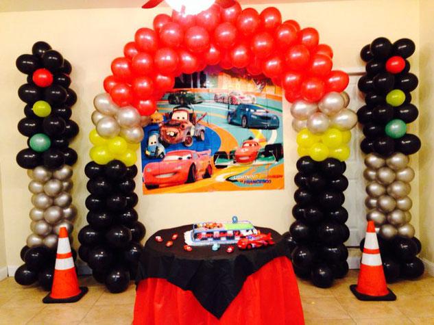 globos para fiesta de cars
